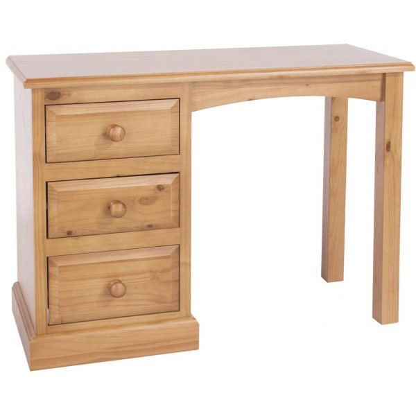 Core Products Edwardian Single Pedestal Dressing Table - Pine
