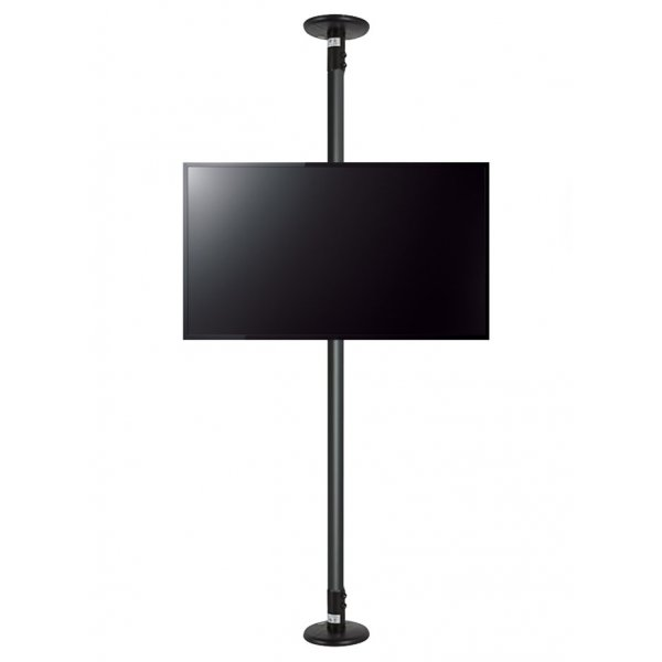 """B-Tech Floor to Ceiling Mount for up to 80\"""" TVs - 2m Pole - Black"""