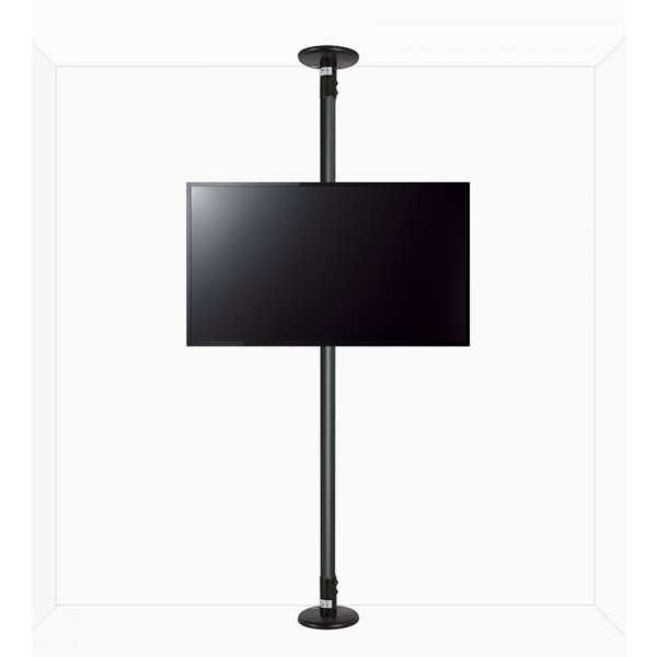 """B-Tech Floor to Ceiling Mount for up to 80\"""" TVs - 4m Pole - Black"""