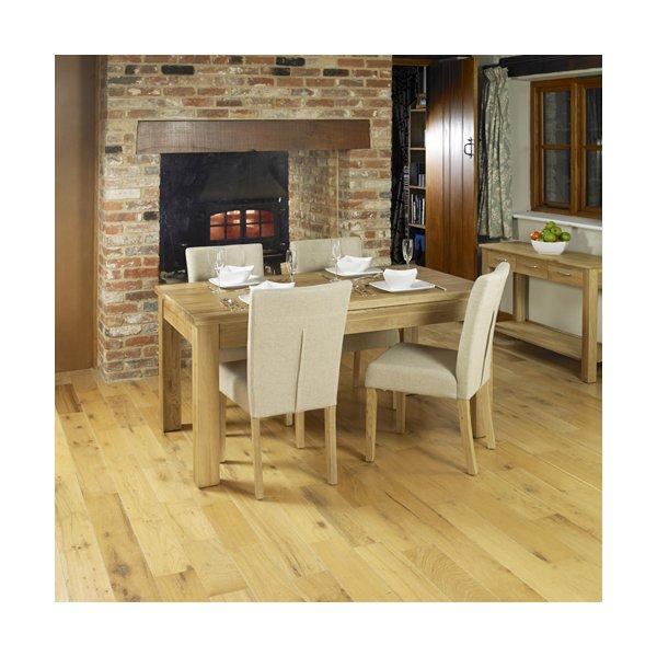 Baumhaus COR04E Mobel Extending Oak Dining Table
