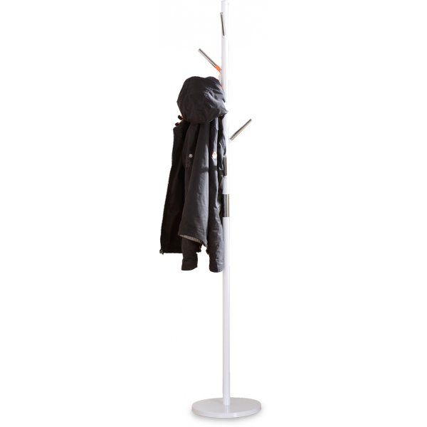 ValuFurniture Byron Coat Stand - White Gloss & Chrome