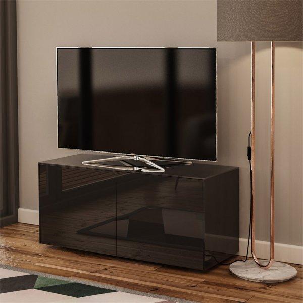 """Frank Olsen INTEL1100BLK Black TV Cabinet For TVs Up To 55\"""""""