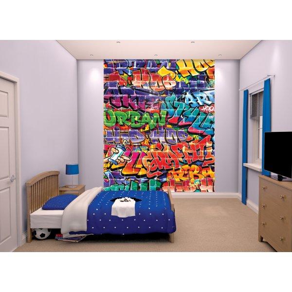 """Walltastic Brick Wall Graffiti 8ft x 6ft 6"""" Mural"""