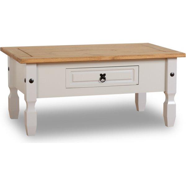 ValuFurniture Corona 1 Drawer Coffee Table - Grey