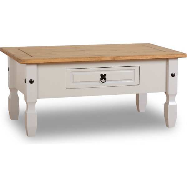 Seconique Corona 1 Drawer Coffee Table In Grey
