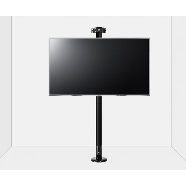 """B-Tech Floor to Wall Mount for up to 80\"""" TVs - 2m Pole - Black"""