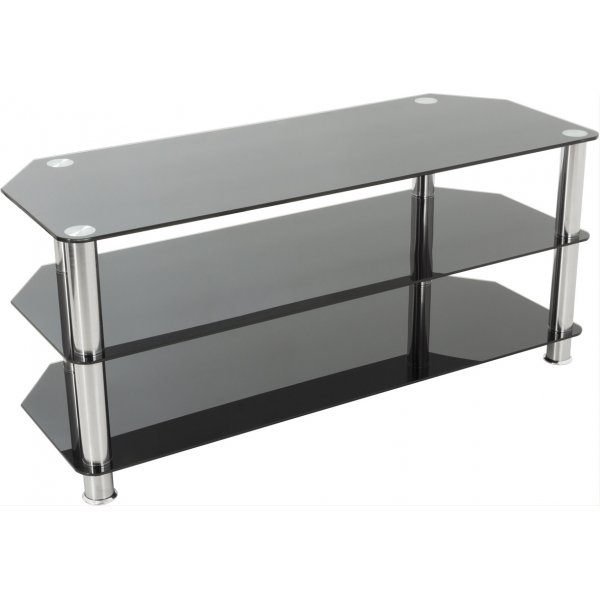 """AVF SDC1000 Universal Black and Chrome TV Stand For up to 50\"""" TVs"""