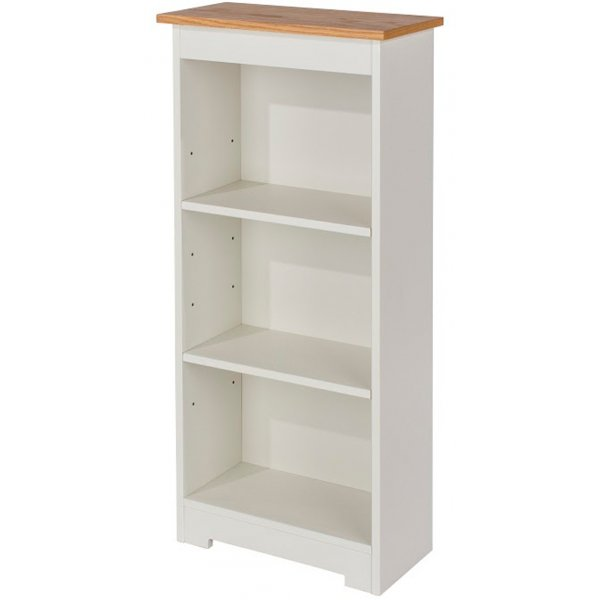 Core Products Colorado CL919 White Low Narrow Bookcase
