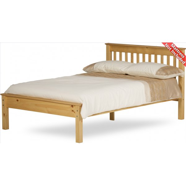 Amani Ennerdale Double Waxed Pine Bed Frame - No Drawers
