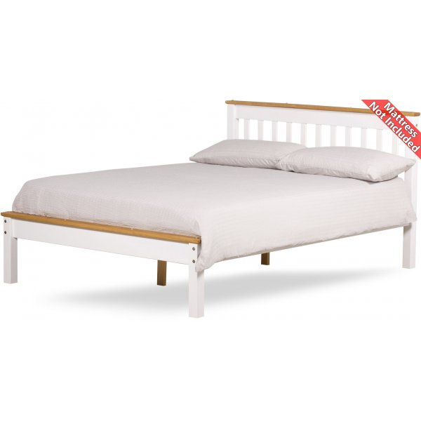 Amani Grasmere King Size White Bed Frame - No Drawers