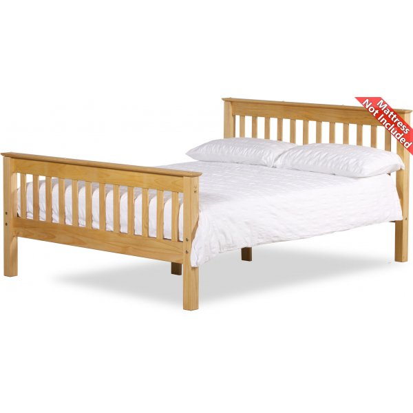 Amani Somerset Small Double Waxed Pine Bed Frame - No Drawers