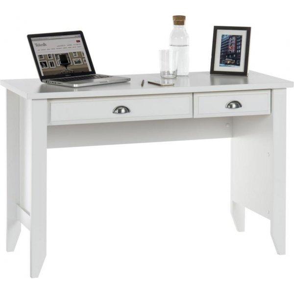 DSK White Home Office Laptop Desk
