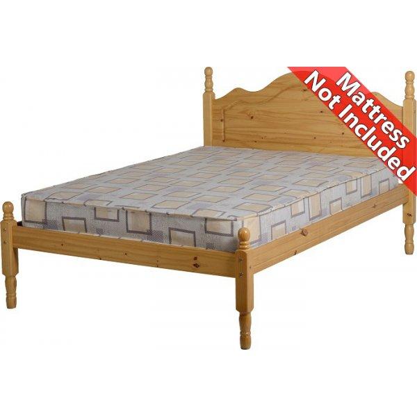 ValuFurniture Sol Double Bed Frame 4ft6 - Antique Pine