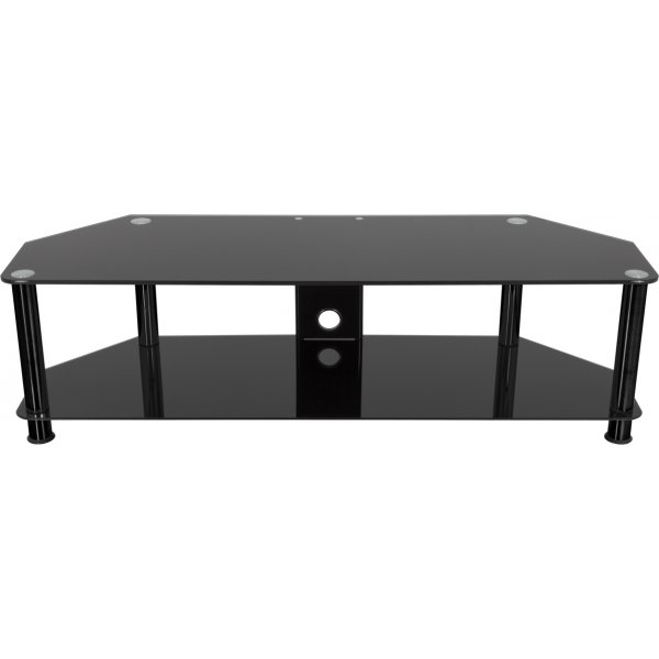 """AVF Universal Black Glass and Black Legs TV Stand For up to 65\"""" TVs"""
