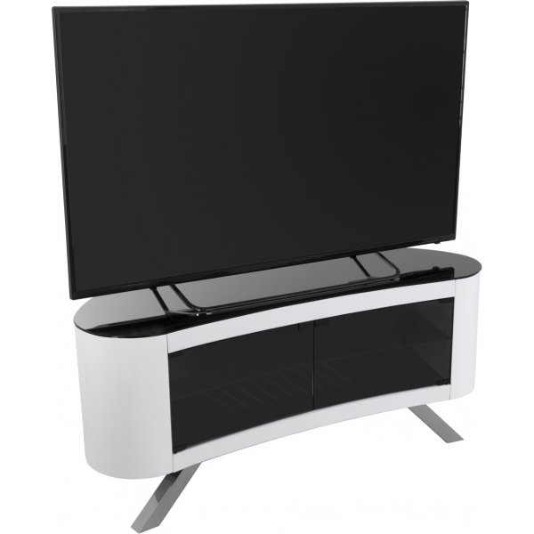 """AVF Bay Curved TV Stand For up to 55\"""" TVs - White"""