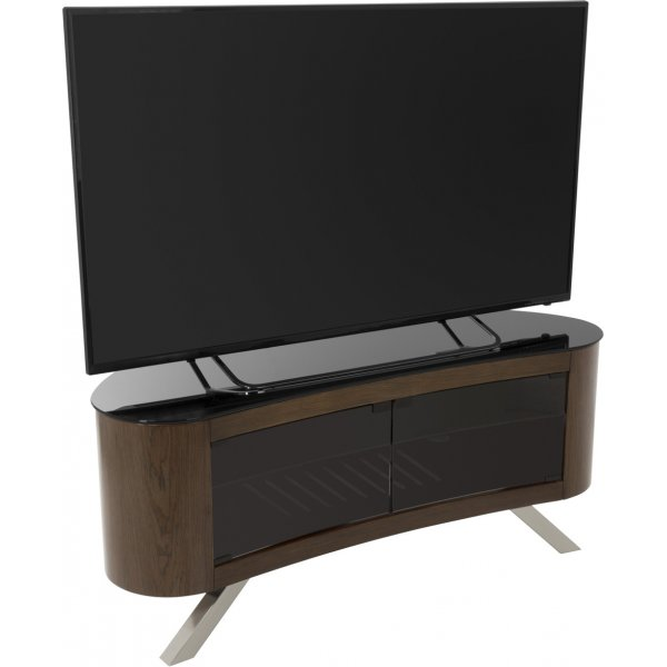 "AVF Bay Curved TV Stand For up to 55"" TVs - Walnut"