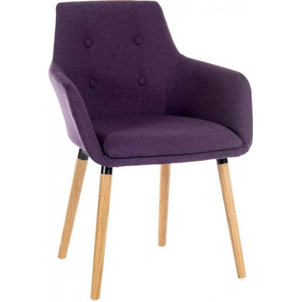 DSK Purple Pair of Reception Chairs