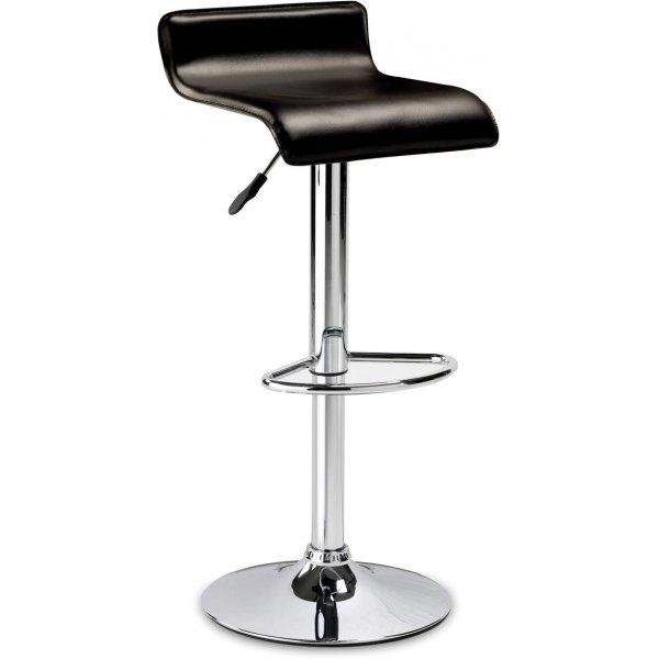 Julian Bowen Stratos Stool - Brown Faux Leather Seat
