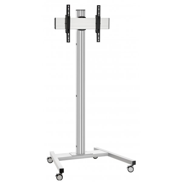"""Vogels Single Pole Trolley Stand with Castors For up to 65\"""" TVs - 2.0m - Silver"""