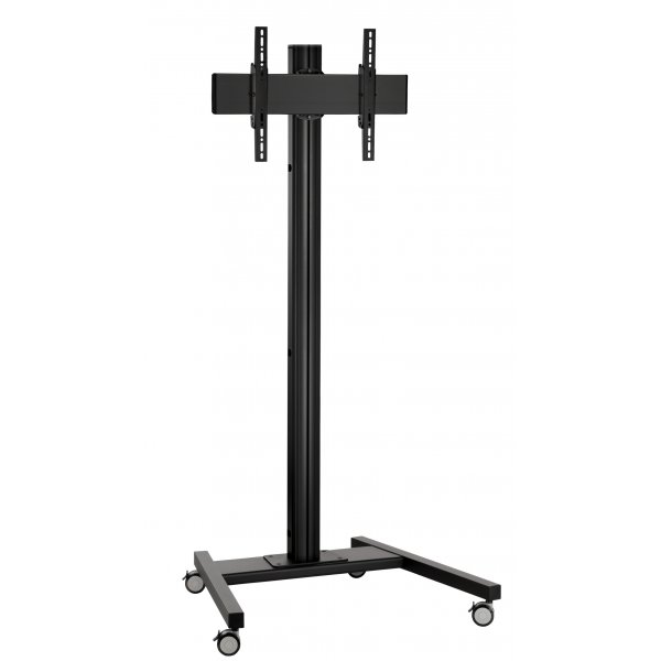 "Vogels Single Pole Trolley Stand with Castors For up to 65"" TVs - 2.0m - Black"