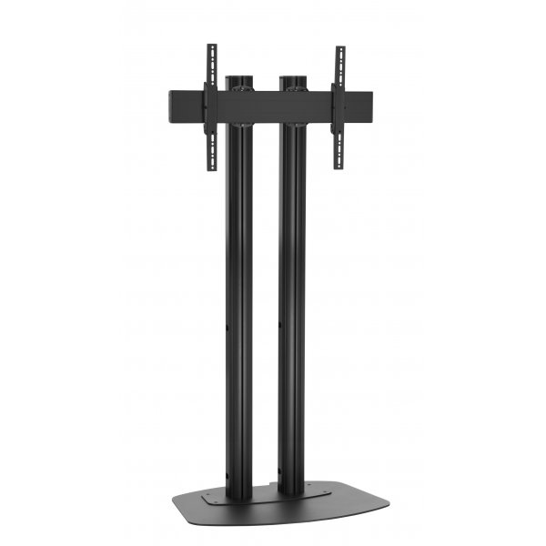 """Vogels FD1884B Double Pole Floor Stand For up to 85\"""" TVs - 1.8m - Black"""