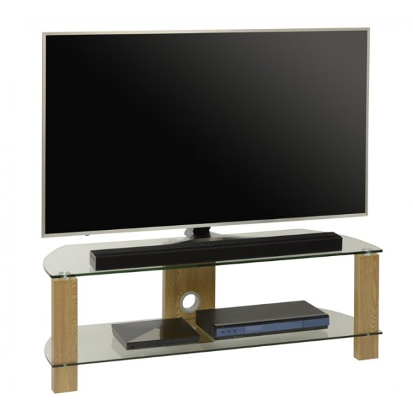 TNW Vision Oak 1200 2 Shelf TV Stand
