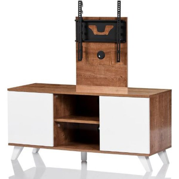 """UKCF Madrid Oak and White TV Stand for up to 52\"""" TVs"""