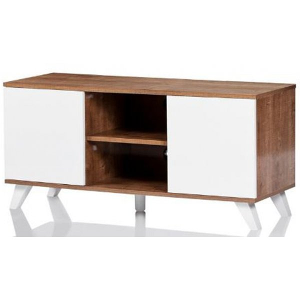 """UKCF Seville Oak and White TV Stand for up to 52\"""" TVs"""