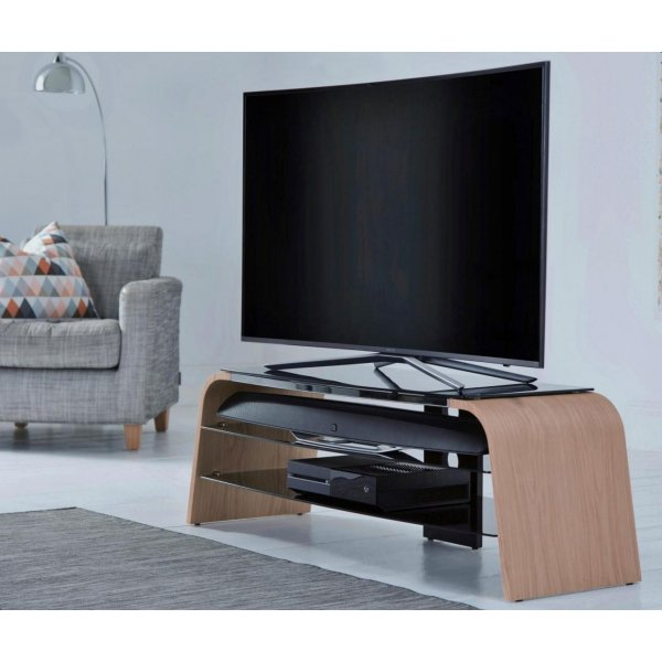"Alphason Spectrum 1200 Light Oak TV Stand for up to 50"" TVs"