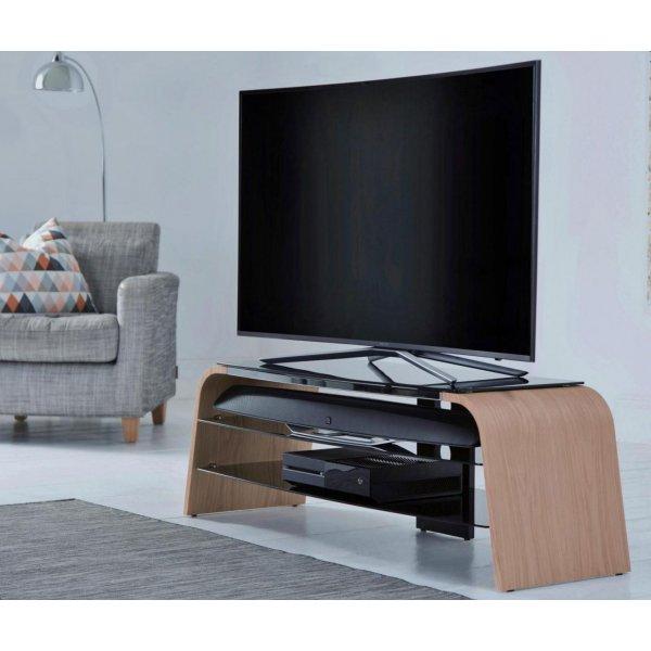 "Alphason Spectrum 1600 Light Oak TV Stand for up to 75\"" TVs"