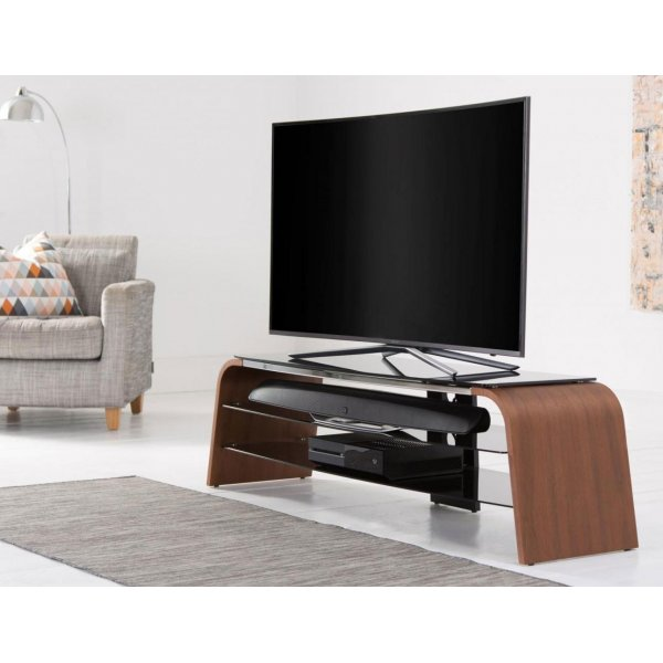 "Alphason Spectrum ADSP1600-WAL Walnut TV Stand for up to 75"" TVs"