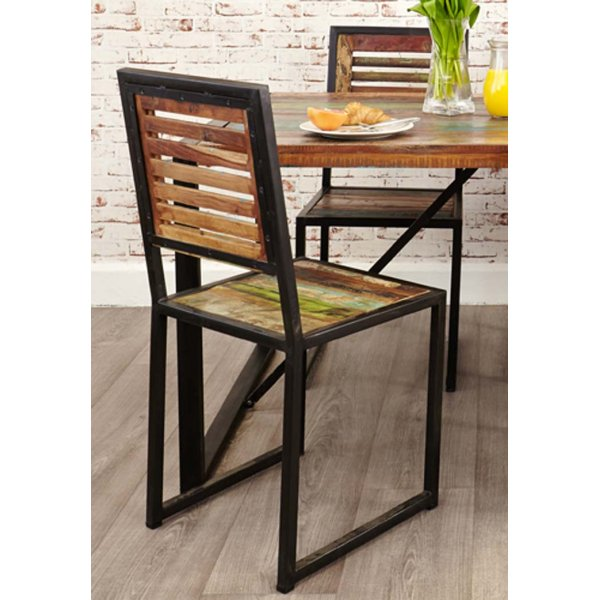 Baumhaus IRF03C Urban Chic Dining Chair (Pack of 2)