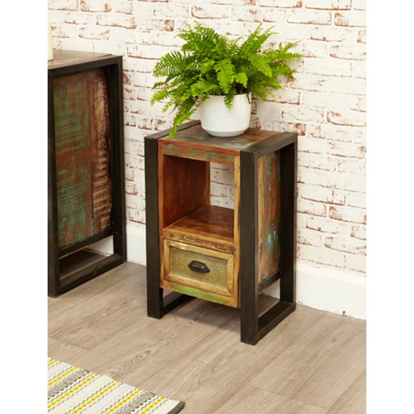 Baumhaus IRF10A Urban Chic Lamp Table / Bedside Cabinet