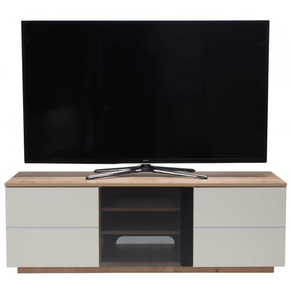 "UKCF New London Oak/Cream TV Stand For up to 65"" TVs"