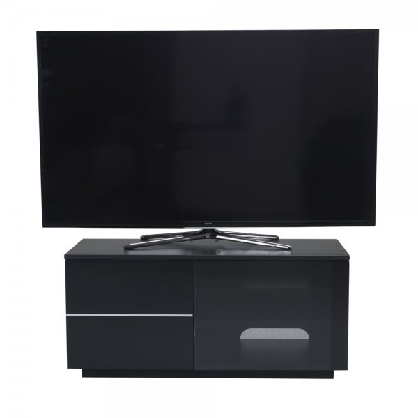 "UK-CF New Paris Black TV stand for up to 55"" TVs"