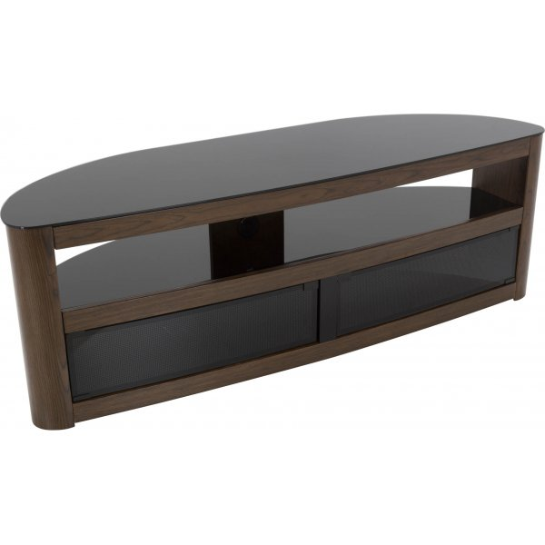 "AVF Burghley FS1500BURW Walnut TV Stand for up to 70"" TVs"