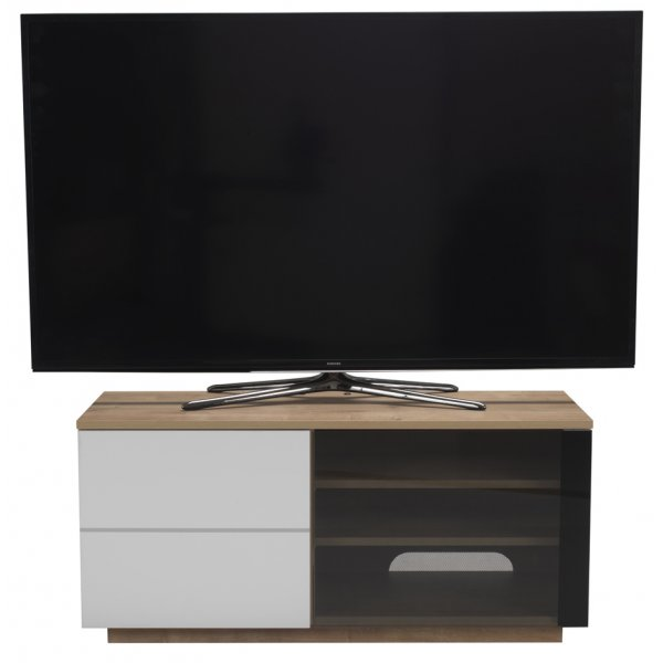 "UK-CF New Paris Oak/White TV stand for up to 55"" TVs"