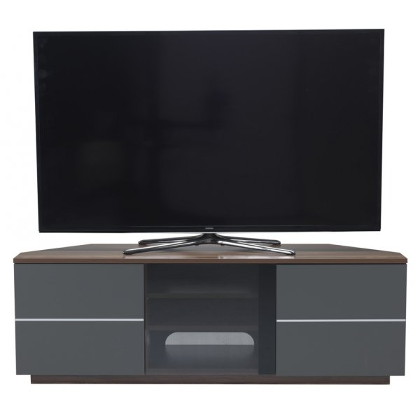 """UK-CF New Milan Walnut/Grey TV stand for up to 65\"""" TVs"""