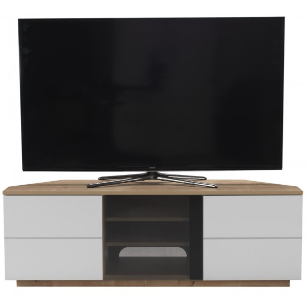 "UK-CF New Milan Oak/White TV stand for up to 65"" TVs"