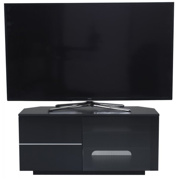 "UK-CF New Tokyo Black TV stand for up to 55"" TVs"
