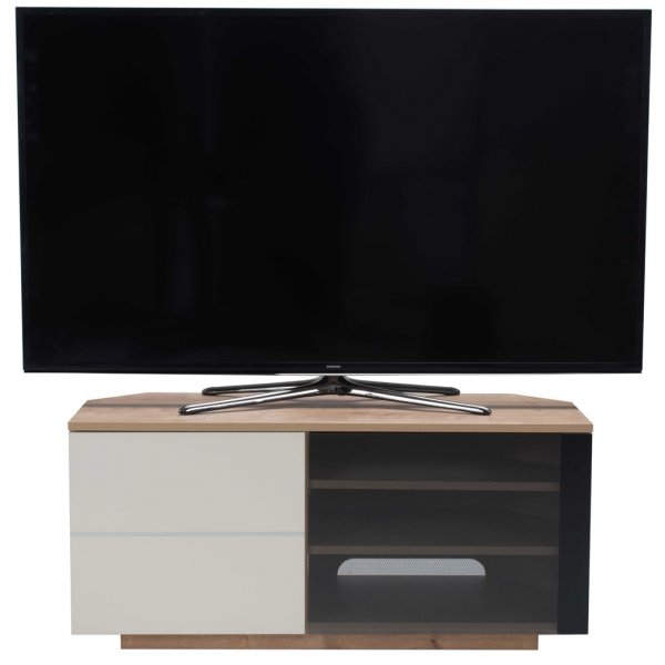 "UK-CF New Tokyo Oak/Cream TV stand for up to 55"" TVs"