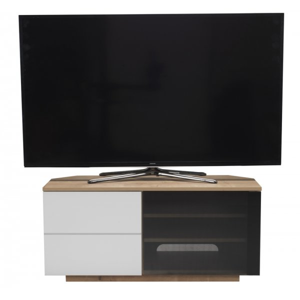 """UK-CF New Tokyo Oak/White TV stand for up to 55\"""" TVs"""