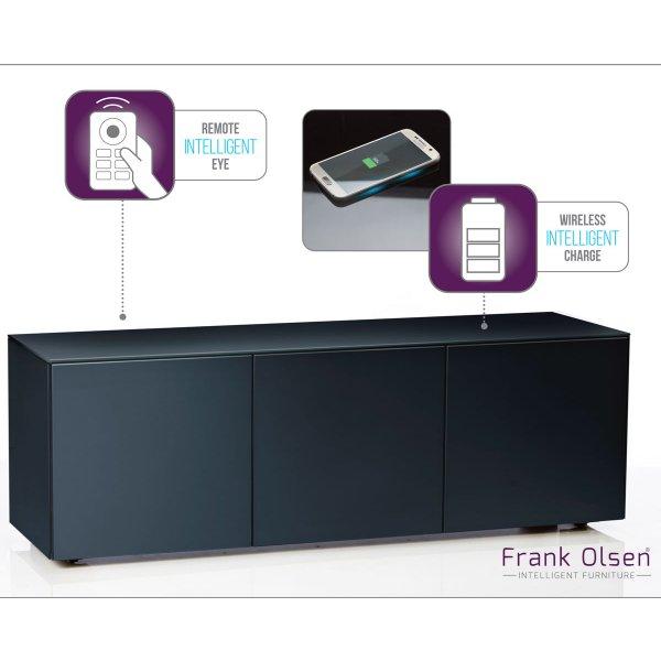 """Frank Olsen INTEL1500BLK Black TV Cabinet For TVs Up To 70\"""" Assembled"""