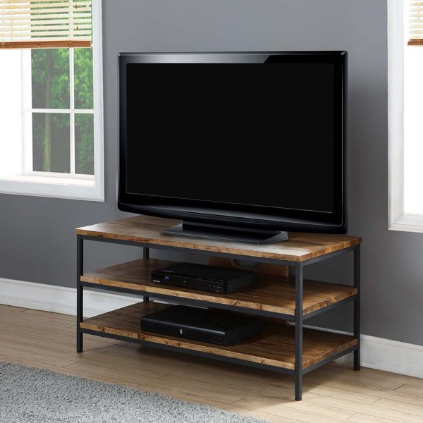 "Jual Solid Wood Rustic Oak TV Stand for up to 50"" TVs"
