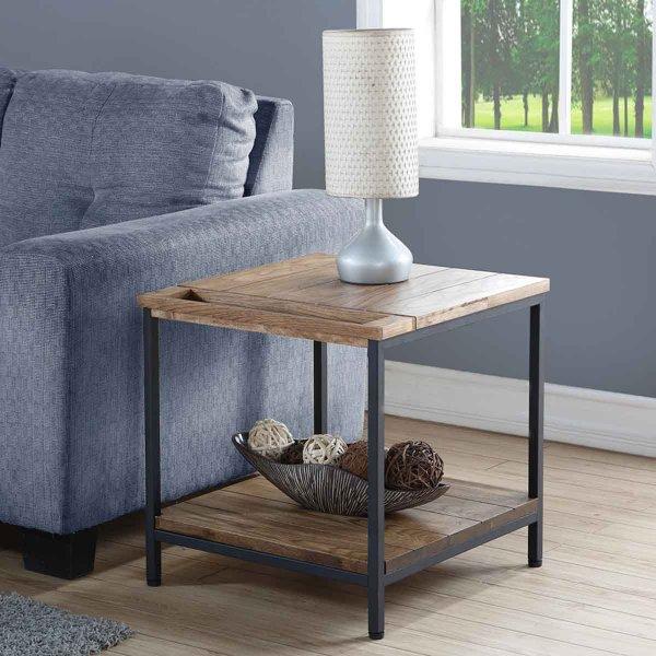 A GRADE Jual Solid Wood Rustic Oak Lamp Table