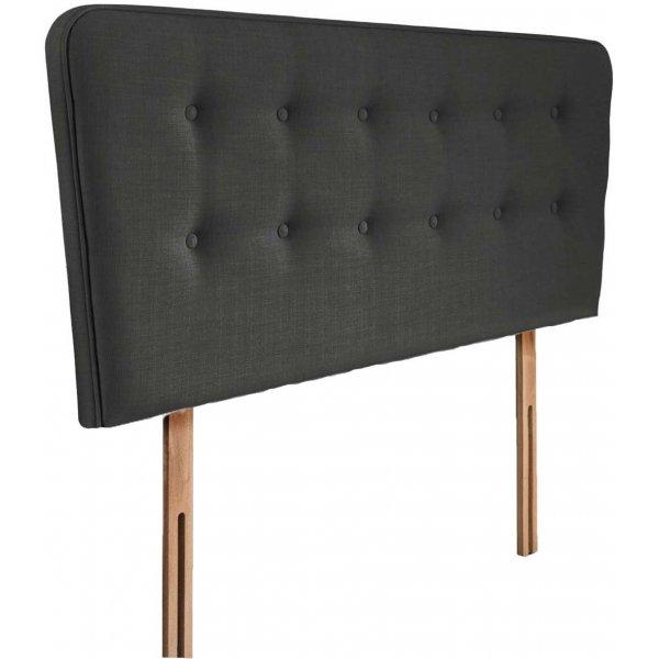 Swanglen Manhattan Gem Fabric Headboard with Slots - Granite - Single 3ft