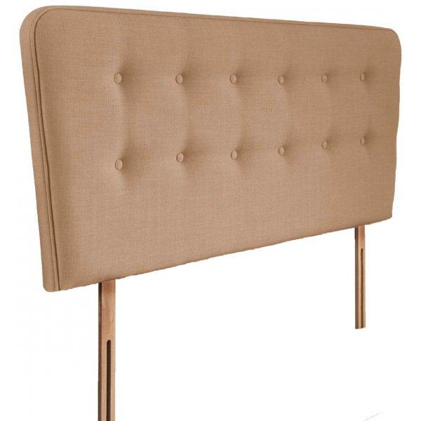 Swanglen Manhattan Gem Fabric Headboard with Slots - Oatmeal - Single 3ft