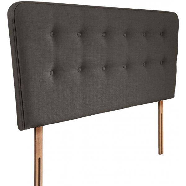 Swanglen Manhattan Gem Fabric Headboard with Slots - Slate - Double 4ft6