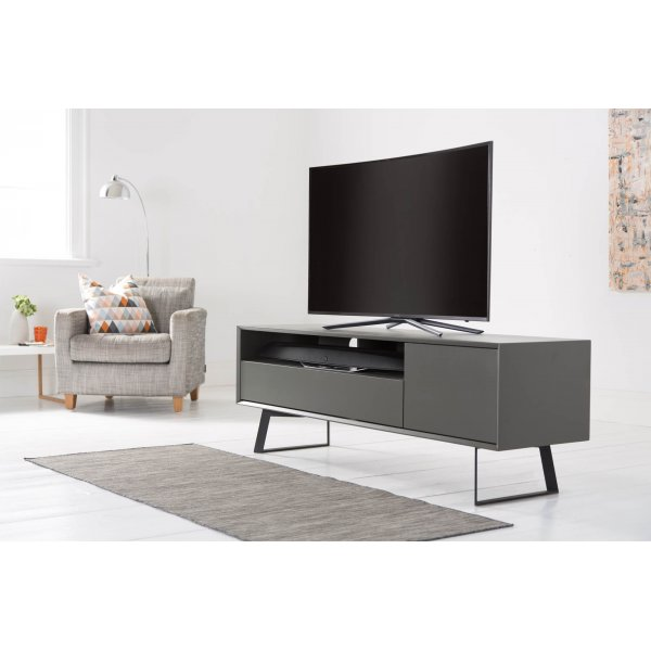 Alphason ADCA1600-GRY Carbon 1600 Black and Grey TV Stand