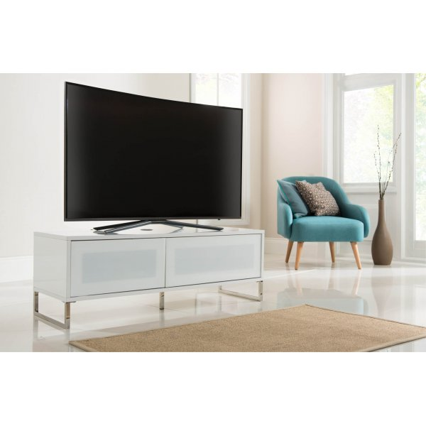 Alphason ADHE1200-WHI Helium 1200 White TV Cabinet Stand